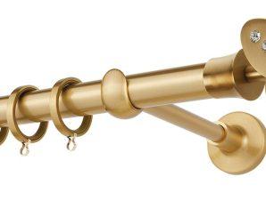 Κουρτινόβεργα Zogometal Prestige Collection PR4052 Όρο Ματ Με Άκρα Με Κρύσταλλα Swarovski 01 Crystal