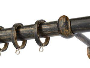 Κουρτινόβεργα Zogometal Rustique Collection R0058 Μαύρο Πατίνα Χαλκός