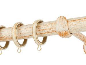 Κουρτινόβεργα Zogometal Rustique Collection R0427 Κρεμ Πατίνα Χαλκός