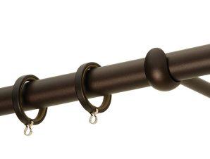 Κουρτινόβεργα Zogometal Rustique Collection R0447 Αντικέ Σκουριά