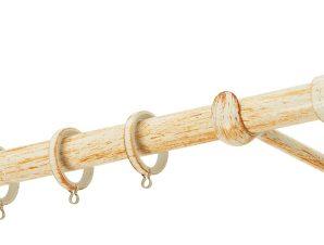 Κουρτινόβεργα Zogometal Rustique Collection R0450 Κρεμ Πατίνα Χαλκός