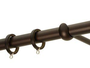 Κουρτινόβεργα Zogometal Rustique Collection R0454 Αντικέ Σκουριά