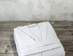 Μπουρνούζι με Κουκούλα Nima Zen White M