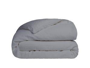 Παπλωματοθήκη Διπλή Sunshine Home Cotton Feelings 107 Dark Grey 200×250