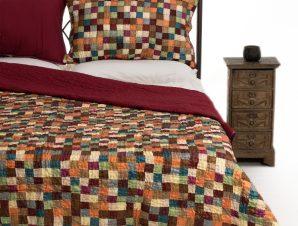 Σετ Κουβερλί Μονό Silk Fashion Σκακι 160×220
