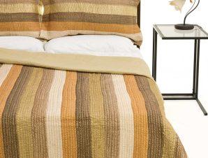 Σετ Κουβερλί Μονό Silk Fashion 6329 Λαδί 160×220