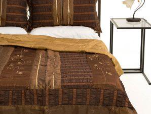 Σετ Κουβερλί Υπέρδιπλο Silk Fashion 10506 Καφέ 220×240