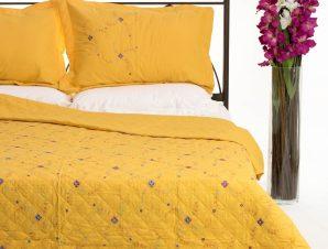 Σετ Κουβερλί Υπέρδιπλο Silk Fashion 24 Κίτρινο 220×240