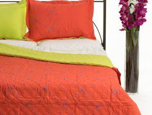 Σετ Κουβερλί Υπέρδιπλο Silk Fashion 24 Πορτοκαλί 220×240
