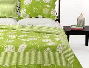 Σετ Κουβερλί Υπέρδιπλο Silk Fashion 350 Λαχανί 220×240