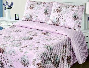 Σετ Κουβερλί Υπέρδιπλο Silk Fashion 5305 Ρόζ 220×240
