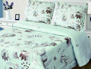 Σετ Κουβερλί Υπέρδιπλο Silk Fashion 5305 Σιέλ 220×240