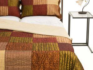 Σετ Κουβερλί Υπέρδιπλο Silk Fashion 6155 Κεραμιδί 220×240