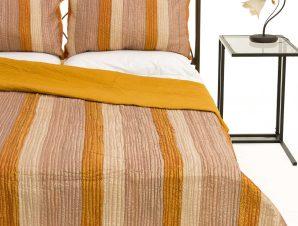 Σετ Κουβερλί Υπέρδιπλο Silk Fashion 6329 Χρυσό 220×240