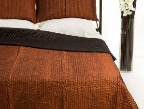 Σετ Κουβερλί Υπέρδιπλο Silk Fashion 6330 Κεραμιδί 220×240