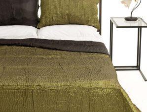 Σετ Κουβερλί Υπέρδιπλο Silk Fashion 6330 Πράσινο 220×240