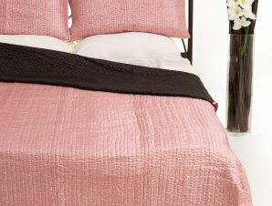 Σετ Κουβερλί Υπέρδιπλο Silk Fashion 6330 Ρόζ 220×240