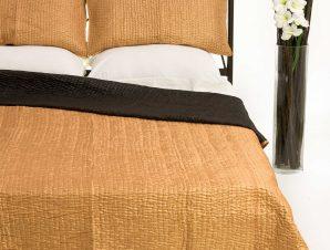 Σετ Κουβερλί Υπέρδιπλο Silk Fashion 6330 Χρυσό 220×240