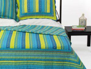 Σετ Κουβερλί Υπέρδιπλο Silk Fashion 8013 Μπλέ 220×240