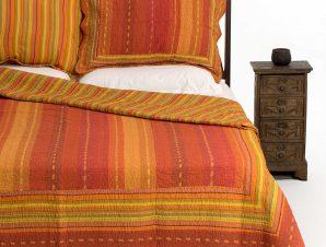 Σετ Κουβερλί Υπέρδιπλο Silk Fashion 8013 Πορτοκαλί 220×240