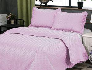 Σετ Κουβερλί Υπέρδιπλο Silk Fashion Dot Pink 220×240