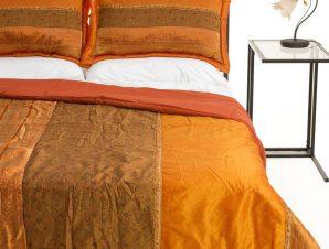 Σετ Κουβερλί Υπέρδιπλο Silk Fashion Taj Mahal Πορτοκαλί 220×240