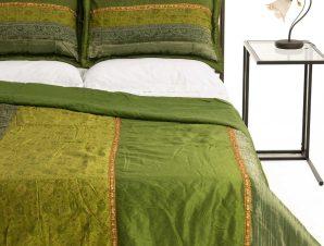 Σετ Κουβερλί Υπέρδιπλο Silk Fashion Taj Mahal Πράσινο 220×240