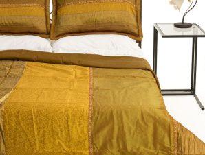 Σετ Κουβερλί Υπέρδιπλο Silk Fashion Taj Mahal Χρυσό 220×240