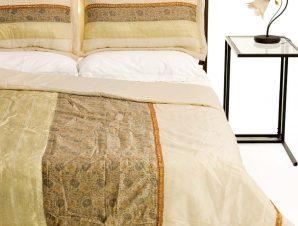 Σετ Κουβερλί Υπέρδιπλο Silk Fashion Taj Mahal Ivory 220×240