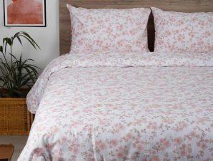 Σετ Σεντόνια Διπλά με Λάστιχο Sunshine Home Cotton Feelings 3240 Pink 150×205+30