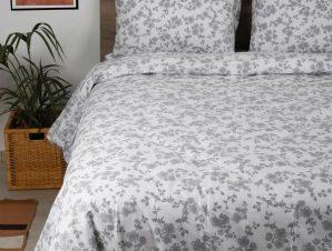 Σετ Σεντόνια Μονά με Λάστιχο Sunshine Home Cotton Feelings 3240 Grey 105×205+30