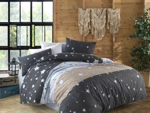 Σετ Σεντόνια Μονά 3 Τεμαχίων Dimcol Γαλαξίας 306 Dark Grey 160×240