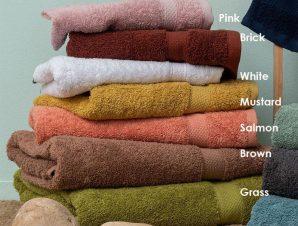 Πετσέτες Ombra Σετ 3τμχ Mustard Palamaiki Σετ Πετσέτες
