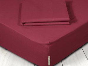 Σεντόνι Μεμονωμένο King Size 180X200+35 Greenwich Polo Club Premium 2212 Κόκκινο Με Λάστιχο