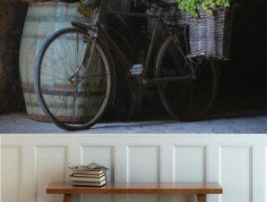 Ποδήλατο με σταφύλια Φαγητό Ταπετσαρίες Τοίχου 81 x 120 cm