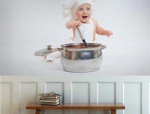 Μικρός μάγειρας Φαγητό Ταπετσαρίες Τοίχου 83 x 110 cm