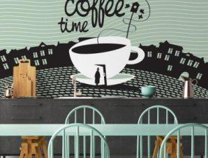 Φλιτζάνι καφέ Φαγητό Ταπετσαρίες Τοίχου 108 x 90 cm